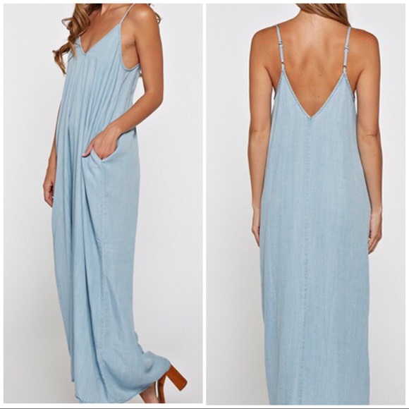 04dc2c216f Love Stitch Dresses | Shae 100 Tencel Silky Chambray Maxi Dress ...